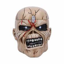 IRON MAIDEN TROOPER EDDIE HEAD BOX Skull Ornament Offical Licensed 18cm FREE P+P