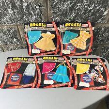 Vintage 4x Sebino Metti Foldable Pocket Doll Fashion Dotted Dresses Lot