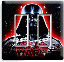 DARTH VADER RED GLOW HALMET STAR WARS DARK FORCE DOUBLE GFCI LIGHT SWITCH DECOR