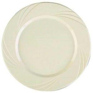"Newbury Beige Plastic Desert Plates 6.5"" 15 Pack Beige Plastic Party Tableware"