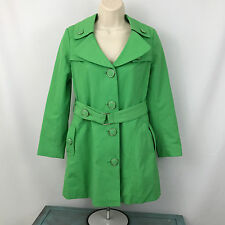 Sugarfly Girls Large Green Jacket Belted Dress Casual Large Buttons