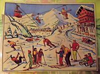 Objeto de Profesión Cartel Escolar 42x30 Estación deportivo de invierno Esqui