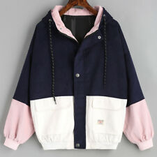 Korean Spring Fall Winter Women Corduroy Loose Jacket Windbreaker Coat Overcoat