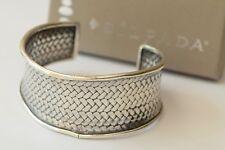 Silpada Oxidized Sterling Silver Woven Weave Cuff Bracelet Damaged