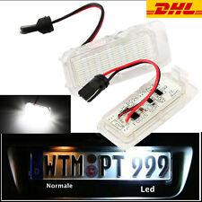 2X LED Kennzeichenbeleuchtung mit E-Prüfzeichen für Ford Focus C MAX S MAX KUGA