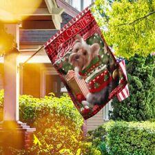Yorkie Christmas Flag Deco House Flag, Wall Flag, Garden Flag