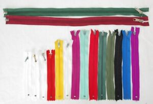 Assorted Colour/Style/Length Sewing Zips for Clothing Accessories Textiles Craft