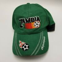 Zambia Chipolopolo Soccer Hat Cap Green Adult Used Strapback G3
