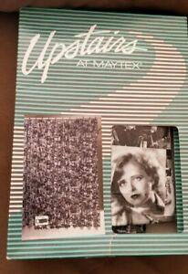 Vintage 80s Upstairs @ Maytex B&W Movie Stars Vinyl Shower Curtain NOVELTY DECOR