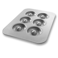 Chicago Metallic Glazed Non Stick 25200 Donut Pan 6 Well 11x16 Commercial USA
