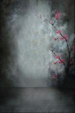 5x7ft Plum Vinyl Photo Backdrop Gradient Gray Background For Studio Photography