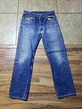 VTG Levis 501XX Button Fly JEANS Med to dark Wash Blue Made USA 33x33 Meas 33x31