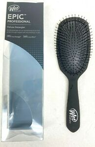 J&D Beauty Wet Pro Epic Deluxe Detangle Brush, Black