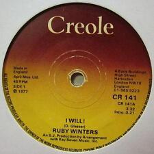 "Ruby Winters(7"" Vinyl)I Will-Creole-CR 141-UK-Ex/VG"