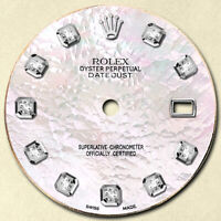 REFINED MENS DATEJUST SS WHITE MOP DIAMOND DIAL NT FOR ROLEX-36
