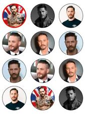 "12 x Tom Hardy 2"" PRE-CUT Edible Premium Rice Paper CupCake/Cake Toppers"