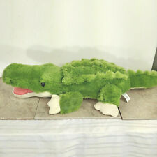 "Fiesta Alligator Plush Stuffed Animal Gator Green Cream Color 30"" lizard croc"