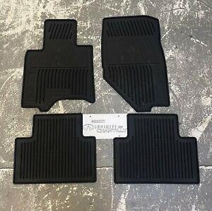 NEW 2014-2017 Infiniti QX70 OEM Black All Season Rubber Floor Mats 999E1-E2000