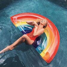 Flotador GIGANTE hinchable Piscina playa Colchon colchoneta ARCO IRIS RAINBOW