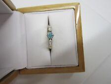 GORGEOUS ESTATE 14 KT GOLD  VIVID BLUE DIAMOND RING !!!!!!!