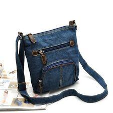 Fashion Women Denim Jean Messenger Hobo Handbag Shoulder Bag Lady Tote Purse Bag