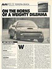1990 Toyota Celica and All-Trac Original Car Review Print Article J574