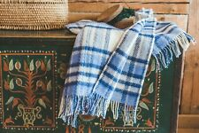 Blanket Throw Bed Sofa Fleece Cozy Plaid Soft Warm 100% Wool 130x210cm Blue Top