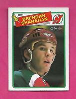 1988-89 OPC  # 122 DEVILS BRENDAN SHANAHAN  ROOKIE EX+   CARD (INV# C4459)