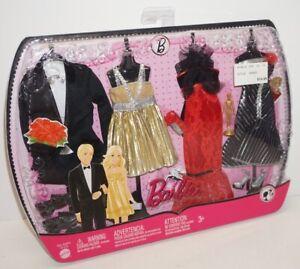 2009 BARBIE & KEN Oscar Night N7478 ~11 Pcs~Dresses/Tuxedo/Mini Barbie~MATTEL