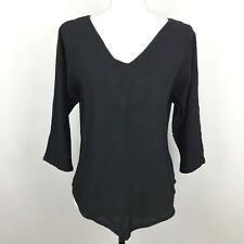 8b5e212c2bd Oh My Gauze Size 1 S M Small Medium Solid Black Top Lagenlook Shirt
