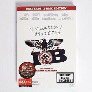 Inglourious Basterds Movie DVD Region 4 AUS Free Postage 2 x Disc
