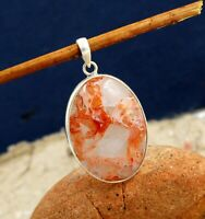 Solid 925 Sterling Silver Jewelry Cherry Quartz Gemstone Women's Gift Pendant