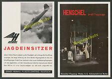Reklame Rekordflugzeug Heinkel He 112 Rostock Henschel Flugzeug-Werke Berlin ´39