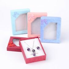 144xRectangle Jewelry Gift Boxes Pendant Necklace Bracelet Boxes Mixed Color
