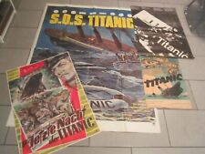 4x Titanic Kinoplakat Poster Original Selten