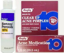 Rugby Acne Medication Benzoyl Peroxide Lotion 10% 1 oz