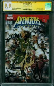 Avengers 675 CGC SS 9.9 Stan Lee Signed 1st Voyager Infinity War Movie up 9.8
