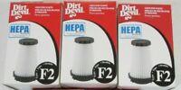 Lot of 3 Genuine Dirt Devil HEPA Filter Type F2 Vacuum Cleaner 2SFA115000