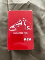 "vintage RCA ""His Master's Voice"" Playing Cards Sealed in Cellophane"