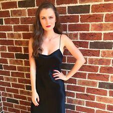 Long Black Amanda Garrett Silk Dress