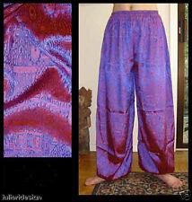 Harem Pants Belly Dance Red Blue Sparkle