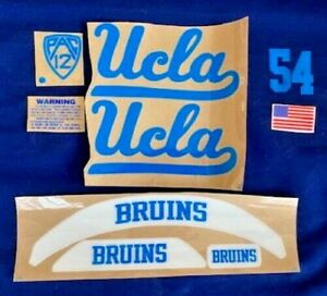 UCLA Full Size complete set with BRUINS Front Nameplate ..20mil  3M