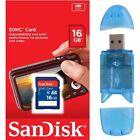 SanDisk 16GB SD Flash Memory Card 16 GIG For Digital Camera GPS Tablet + Reader