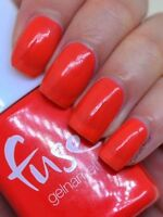 SensatioNail FUSE Gelnamel ELEC-TRIC OR TREAT Coral Red LED Gel Nail Polish NEW!