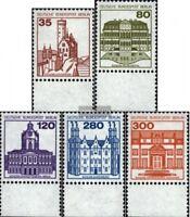 Berlin (West) 673A-677A Unterrandstück (kompl.Ausg.) postfrisch 1982 Burgen und