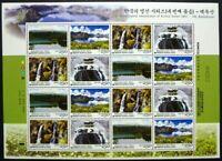 Korea Süd 2007 Gebirge Mountains Landschaften IV Natur 2609-2612 Kleinbogen MNH