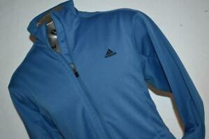 27289-a Mens Adidas Athletic Jacket Basketball Workout Size Large Blue Polyester