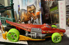 2015 DINO RIDERS Exclusive CROC ROD✰Red/Orange; oh5 Green✰LOOSE Hot Wheels