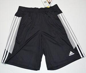 adidas Men's Active Black Shorts with Zipper Pockets New