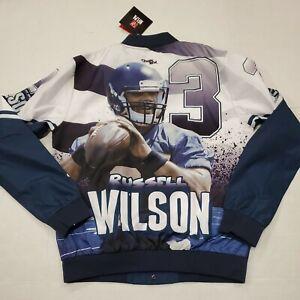 NWT Seattle Seahawks Russell Wilson NFL Fanimation Chalkline Jacket Medium New